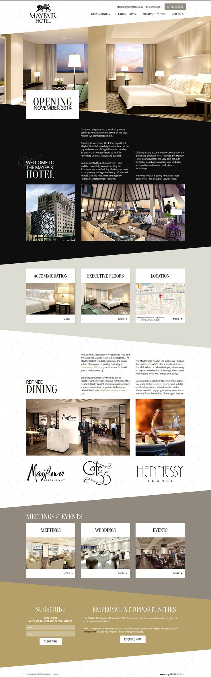 New landing page just gone live for Mayfair Hotel #hotelwebsite #hotel #web #pebbledesign
