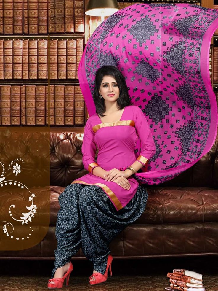Patiala Salwar Suit. Item Code: SLANA401 http://www.bharatplaza.com/new-arrivals/salwar-kameez.html