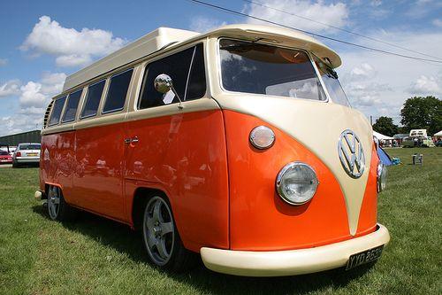 VW camper van in orange with a split windscreen - yes please, I think I will | Fantasy Motors ...
