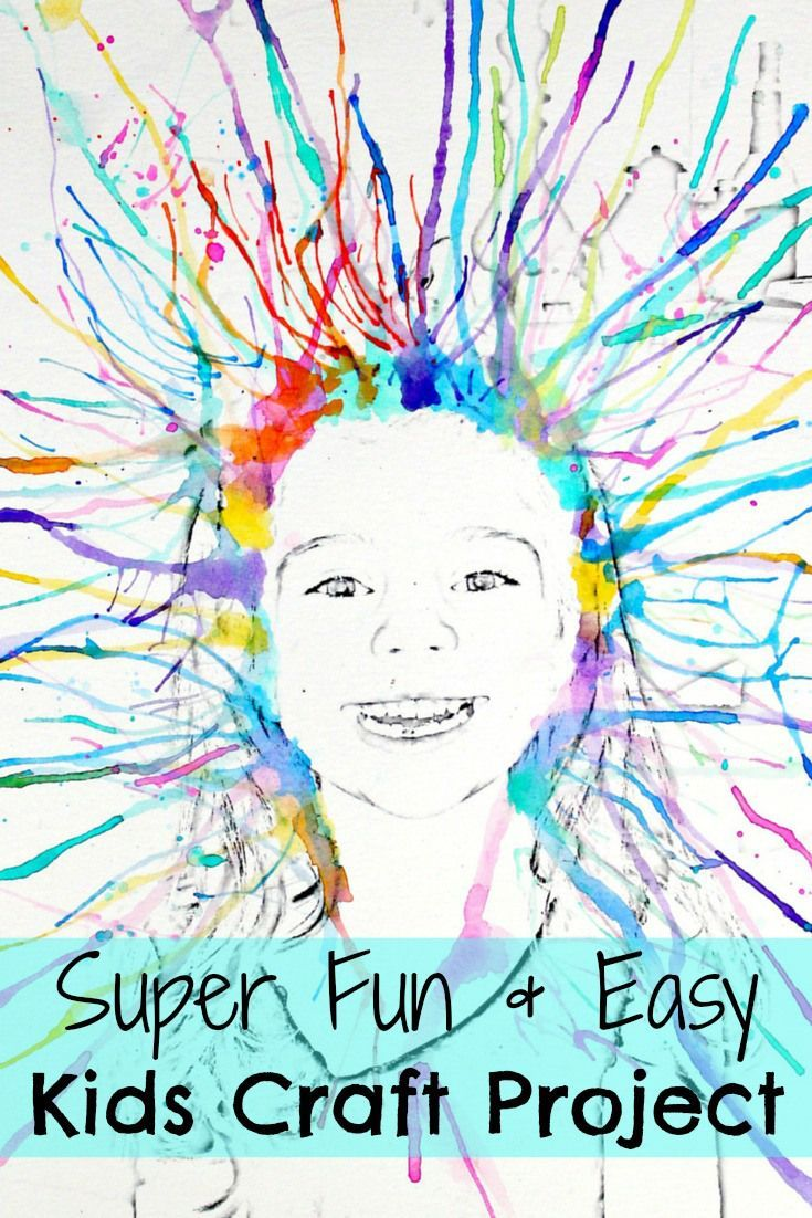 Super Fun Watercolor Kids Craft Project That You Have to Try. Your Kids will have so much fun doing this! As well as you.