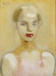 Helene Schjerfbeck (Finish 1862–1946) [Realism, Impressionism, Expressionism, Romanticism] The Circus Girl, 1916.
