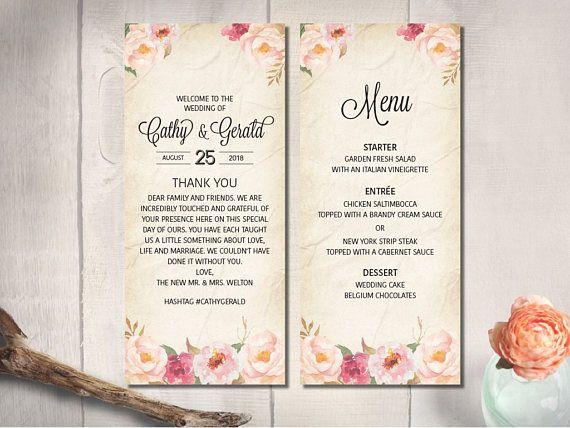 46 best Wedding Menu images on Pinterest Wedding dinner menu - wedding menu