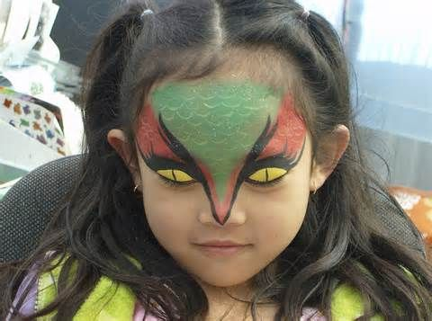 Image detail for -Face Painting, dragon, snake, serpent, costume, Halloween.