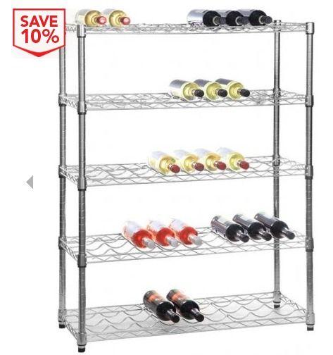 Chrome Wine Rack - 5 Shelf