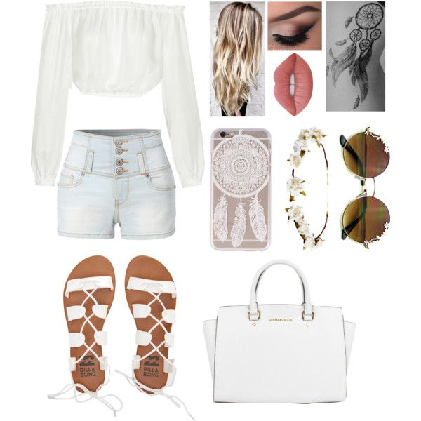 I know what you did last summer by blessed-with-beauty-and-rage on Polyvore featuring moda, Elizabeth and James, LE3NO, Billabong, Michael Kors, Cult Gaia and Lime Crime