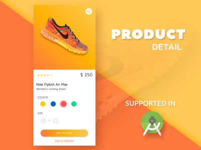 ECOMMERCE PRODUCT DETAIL PAGE.  Ready to import in ANDROID STUDIO  Source Code Ready #xml #java #frontend #uiux #ecommerce #shoping #online