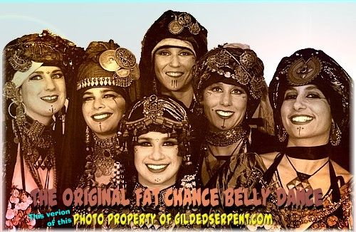 The Original Fat Chance Belly Dance: Read more: Gilded Serpent, Belly Dance News & Events , » An Intro to Tribal Fusion Belly Dance  Copyright 1998-to current date by Gilded Serpent, LLC   (Theresa, Jill Parker, Rina Rall, Beth Frue, Suzanne Elliot, Carolena)