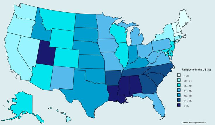 Christianity Being The Worlds Most Popular Religion Is - Atheism prevalence map us