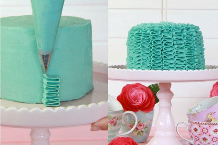 Как украсить свой стиль торты рюшами ТОРТ. Tuturial шаг за шагом! - в пункте