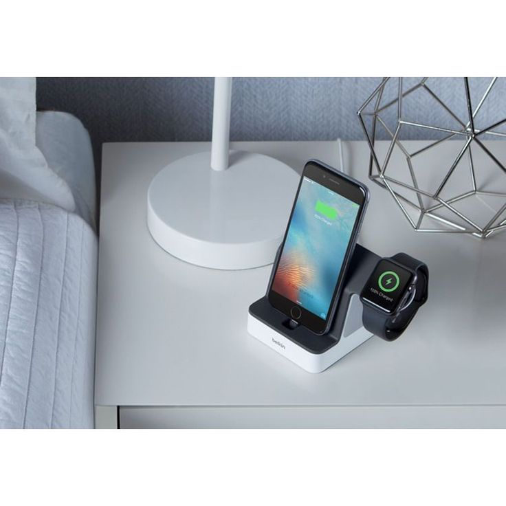 Belkin PowerHouse Charge Dock for Apple Watch + iPhone #F8J200ttWHT