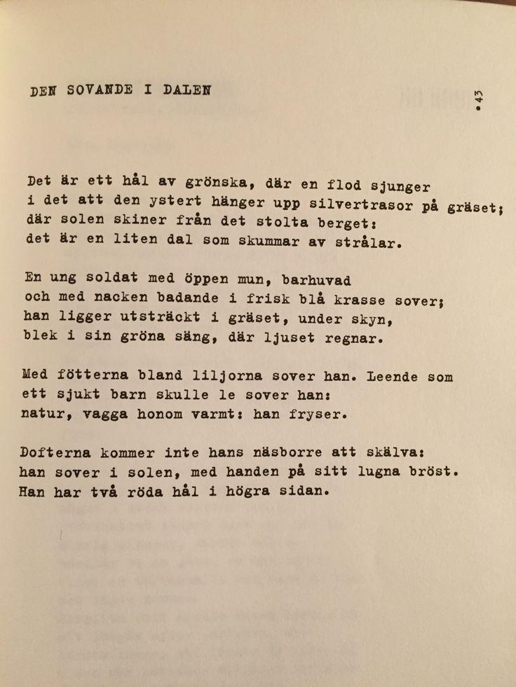 Arthur Rimbaud - Den sovande i dalen