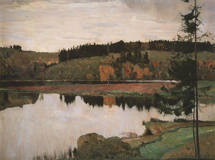 Михаил Васильевич Нестеров » Картины, живопись » Осенний пейзаж, 1906