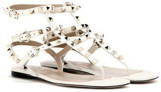Valentino Garavani Rockstud leather sandals - $975.00