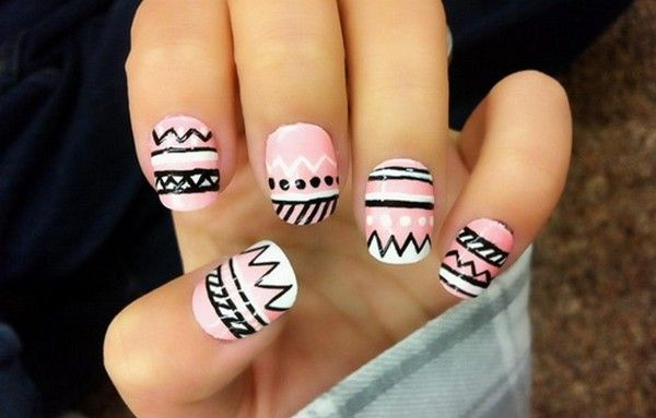 Easy nail designs to do at home for short nails nails nails nails pinterest nail design for Easy nail designs to do at home for short nails