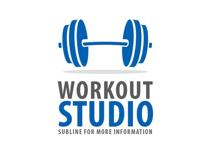 Exklusives Logo- und Corporate-Design Template für einen Fitness Studio oder Gym – Workout Studio