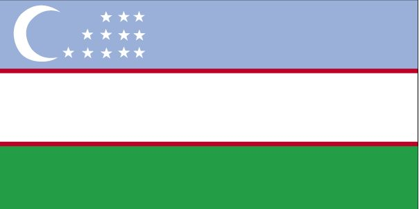 Country Flags: Uzbekistan Flag
