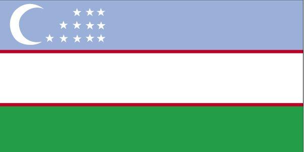 Country Flags: Uzbekistan Flag