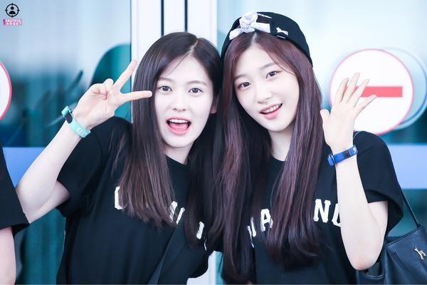 [PIC] 150727 Yebin and Chaeyeon @ Incheon Airport (cr.chaeni1201_ )