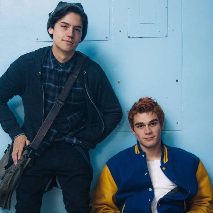 "Archie and Jughead from the 2017 ""Riverdale"" TV series on the CW."