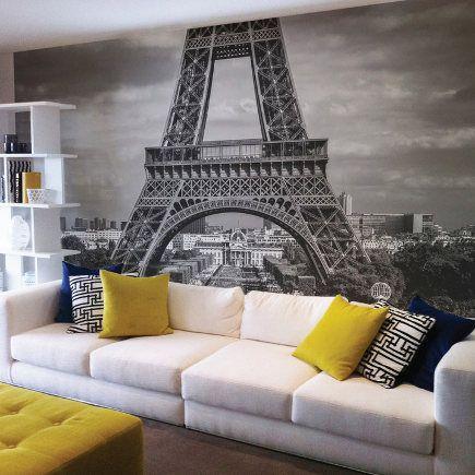 wall mural of Paris. The Wall Sticker Company via Atticmag