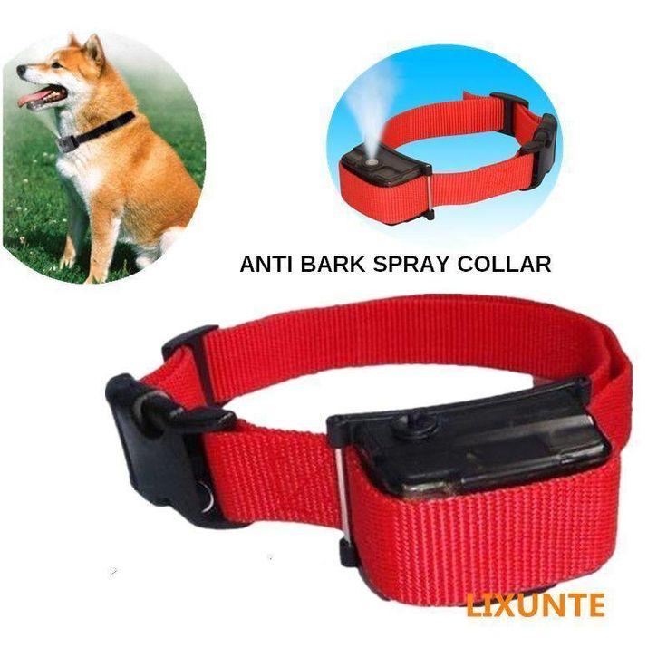 Dog Anti Bark Spray Collar No Shock barking Training control electric pet safe