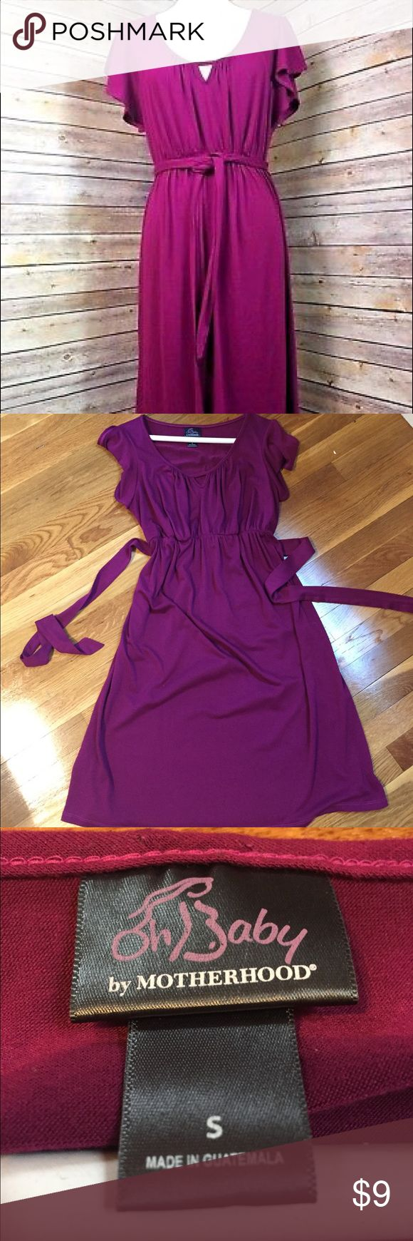 Purple maternity dress Oh baby by Motherhood purple maternity dress, perfect for work or casual. Size small. In good used condition, there is a small amount of pilling on parts of the dress but not noticeable from afar. Would definitely make a wonderful dress for spring & summer! From a smoke free and pet free home. Very soft dress, well loved! Oh Baby by Motherhood Dresses Midi
