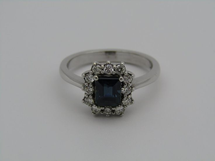 18kt gold sapphire and diamond ring.