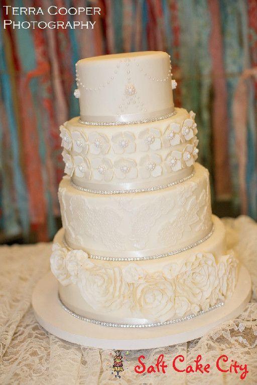 104 best images about salt cake city wedding cakes on pinterest sugar flowers silver square. Black Bedroom Furniture Sets. Home Design Ideas