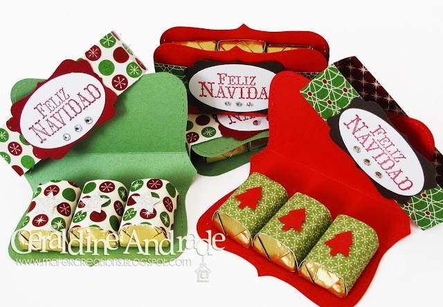 Stampin' Up! Christmas by Geraldine Andrade at Mafer's Creations: TOP NOTE CHOCOLATE HOLDER