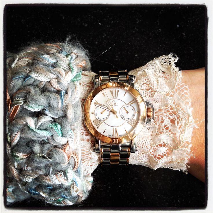 GC watch femme , Kiro by Kim exclusive handknit , lace top Nolita