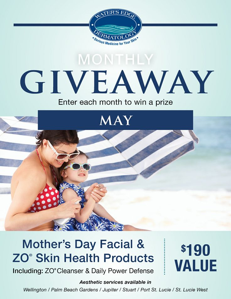Elegant Wateru0027s Edge Dermatology May Giveaway! Pamper Mom With Our Exclusive Offer!  See Facebook For