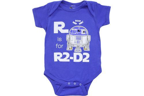 R Is For R2D2 Snapsuit Infant Onesie Baby Romper