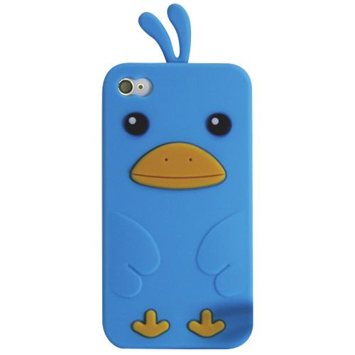 Exian iPhone 4 / 4s Cell Phone Case (4G157-BLUE) - Blue                         - Web Only