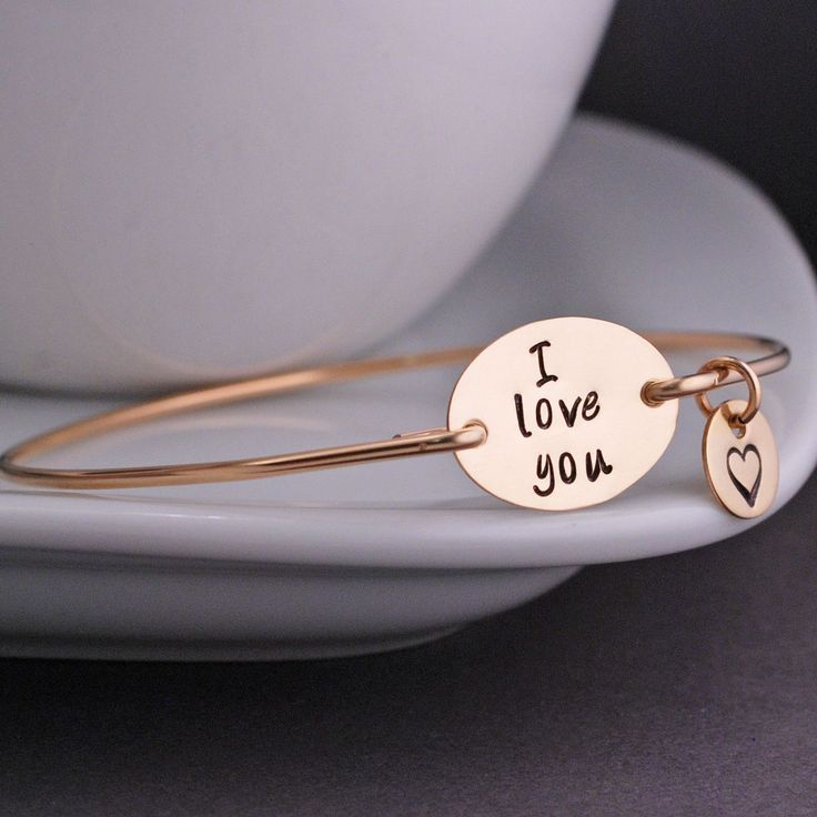 I Love You Bracelet - Gold from georgie designs personalized jewelry