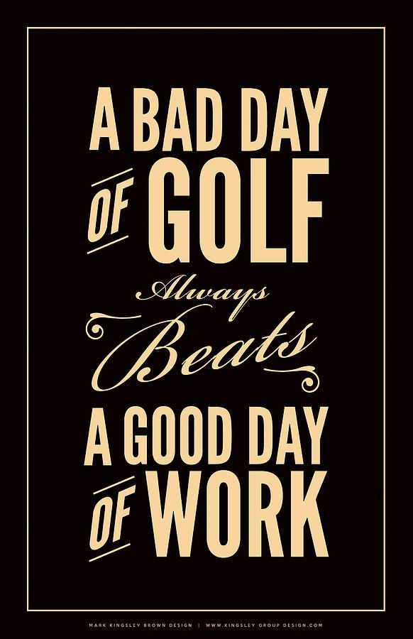 Bad Day Of Golf Digital Art by Mark Brown - Bad Day Of Golf Fine Art Prints and Posters for Sale