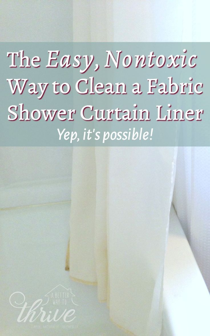 Fabric Shower Curtain Liners Can Get Scummy And Stained Even With