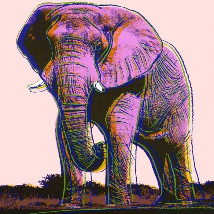 Andy Warhol - Elephant, 1983 - endangered species series.
