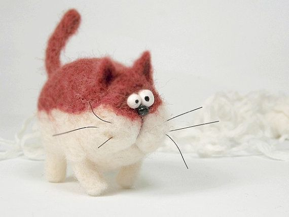 Cat Gaspo Needle felt Needle felting dog Needle felted von Agafil – Filz / Felt