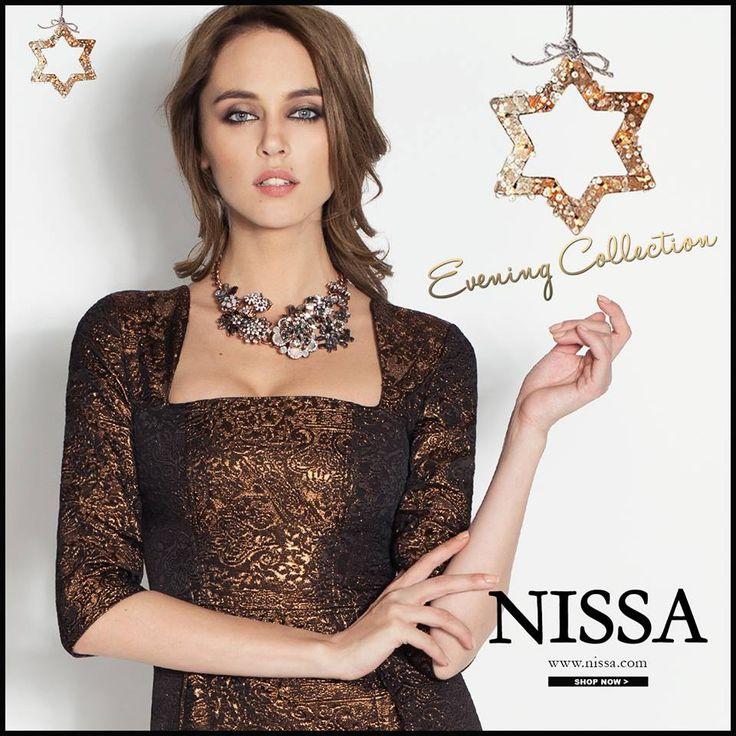 www.nissa.com  #nissa #eveningdress #party #wear #evening #dress #womans #glam #model #chic