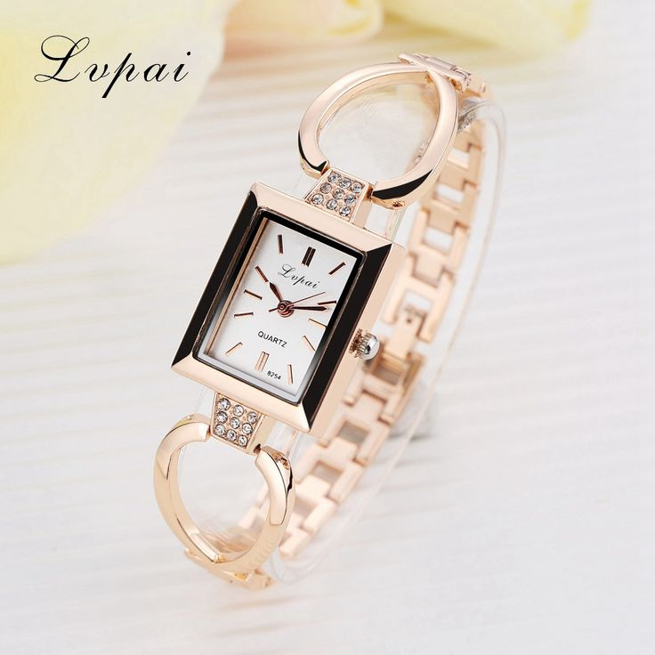Lvpai Brand Ladies Gold Watch Luxury Gold And Silver Bracelet Watches With Fine Alloy Skeleton Strap Women Dress Watch
