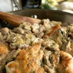 Chicken Breasts with Mushroom and Onion Dijon Sauce #recipe #love