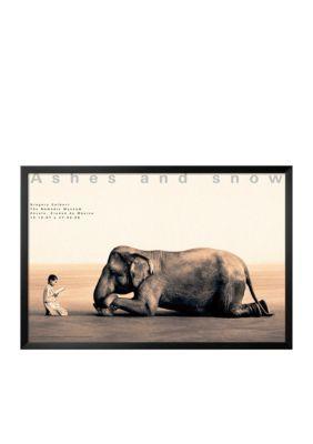 Art.com  Boy Reading to Elephant Mexico City Framed Art Print - Online Only