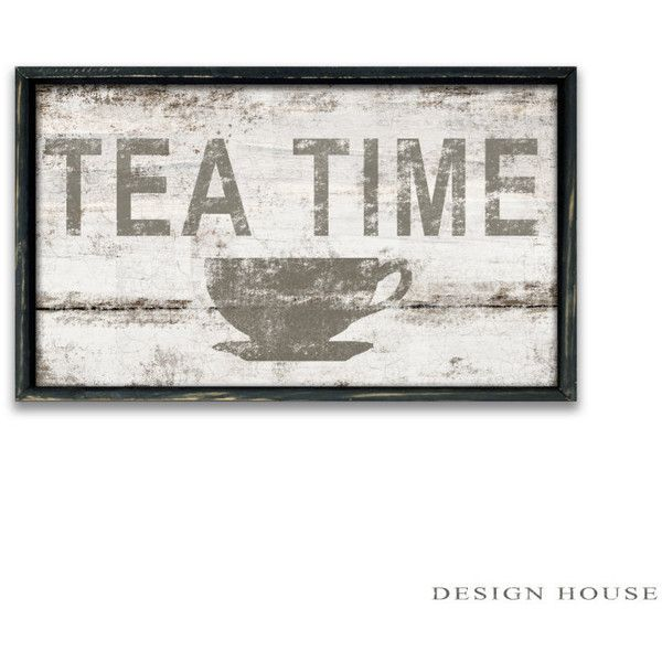Tea Time Wooden Sign Tea Sign Tea Plaques Tea Wall Art Kitchen Art... ($50) ❤ liked on Polyvore featuring home, home decor, wall art, home & living, home décor, silver, wall décor, wall hangings, wall hanging and wall plaques