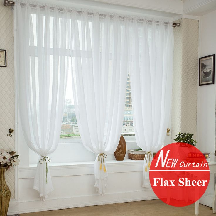 quality window screening for wedding decoration linen fabric voile curtain finished sheer curtains bedroom livingroom cortinas