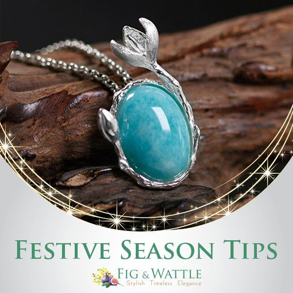 If you've got a few different festive events coming up and you're hoping to get away with wearing the same dress because it basically makes you feel amazing, then you need to think about changing things up with some bold statement necklace. #figandwattle #fashion #fashionista