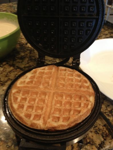 Cake Batter waffles!  OMG These are so amazing!