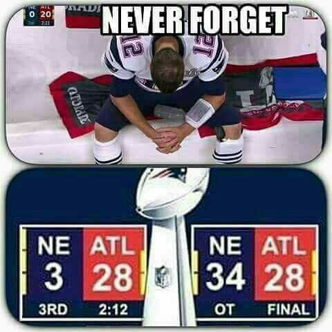 Yeah greatest comeback in Super Bowl History