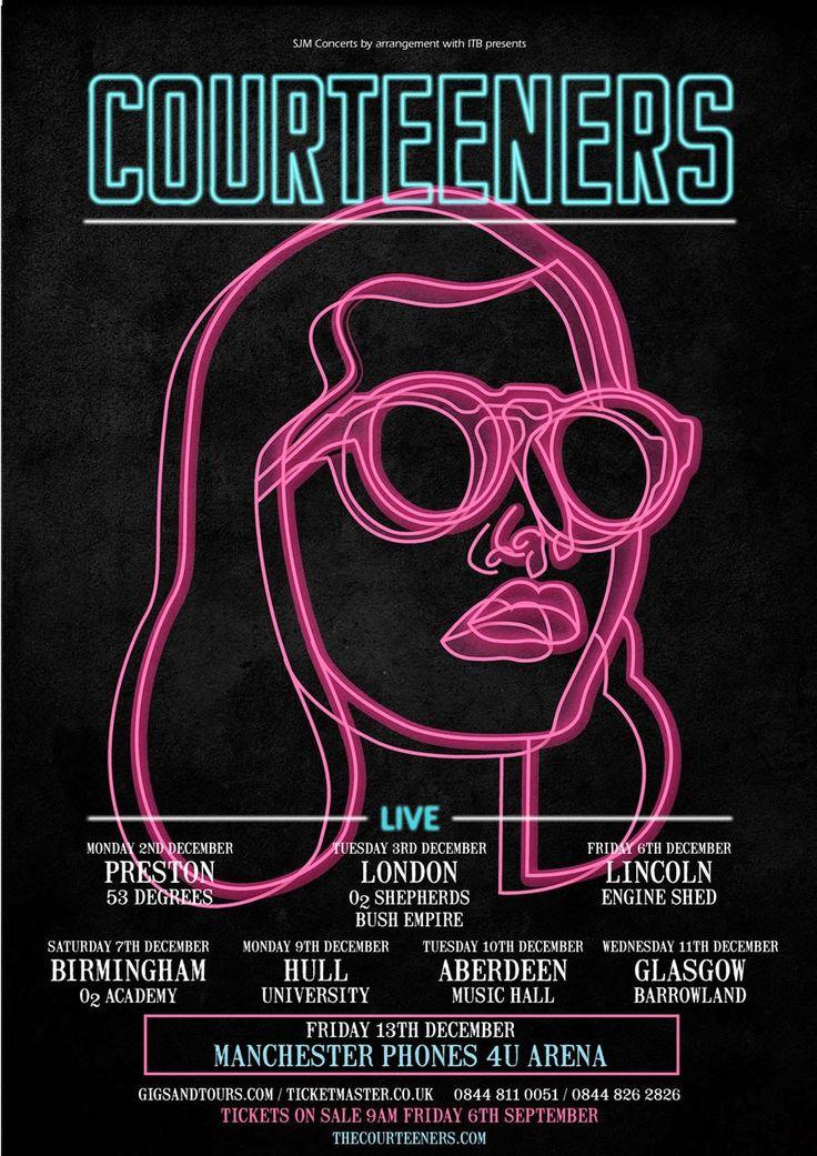 The Courteeners album - Google 搜尋 블랙 바탕에 핑크 색상이 눈에 확 띈다 네온사인 느낌이 화려함을 더한다