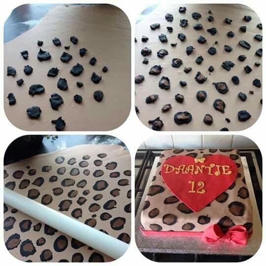 """Taarten van Sas"" - how to make a leopardprint cake!"