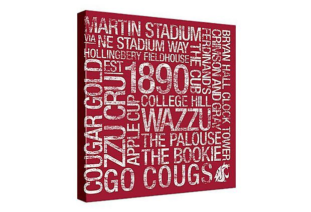 Could make this for Alabama    Washington State: College Colors Art on OneKingsLane.com
